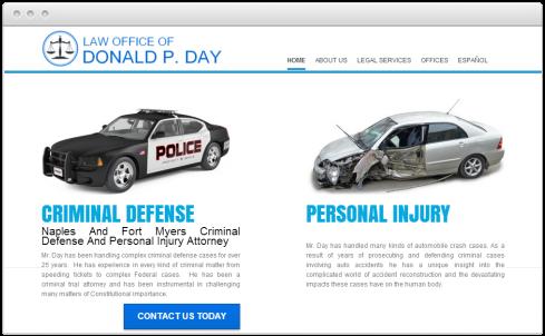 Naples Law Firm Web Design