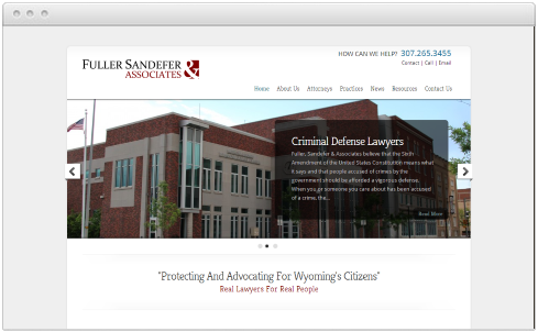 Wyoming Law Firm Web Design