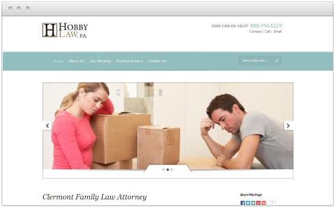 Florida Law Firm Web Design