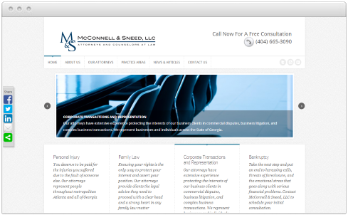 Atlanta Law Firm Web Design
