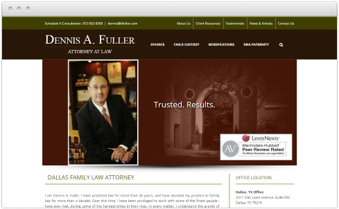 Dallas TX Law Firm Web Design