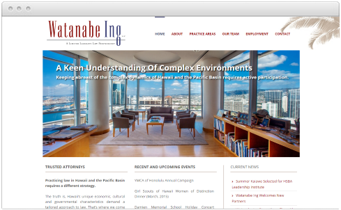Hawaii Law Firm Web Design