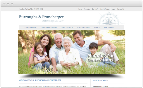 SAN RAFAEL, CA Law Firm Web Design