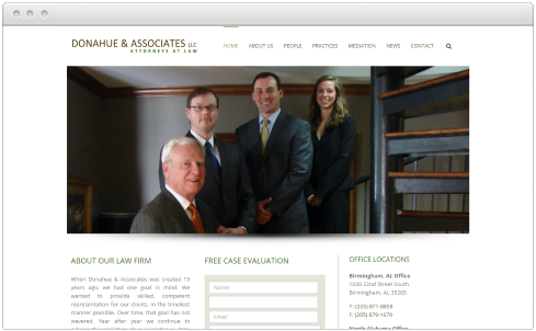 Birmingham, AL Law Firm Web Design