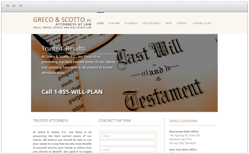 New Jersey Law Firm Web Design