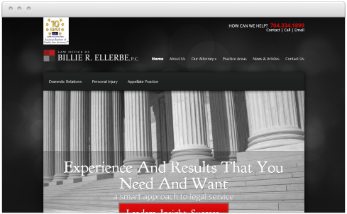 Charlotte, NC Law Firm Web Design