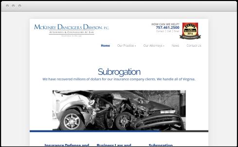 Virginia Beach, VA Law Firm Web Design