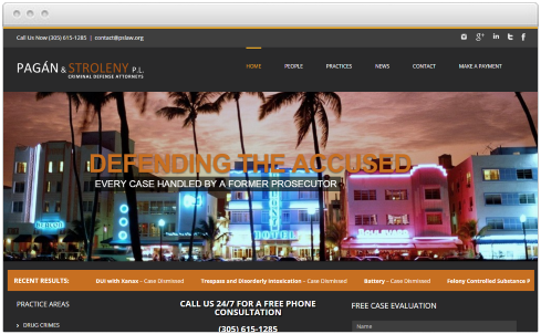 Miami Law Firm Web Design