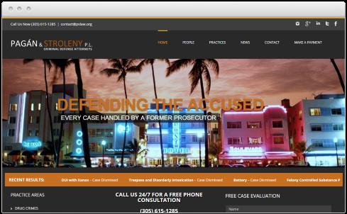 Miami Law Firm Web Design