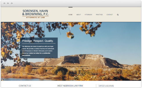 Nebraska Law Firm Web Design